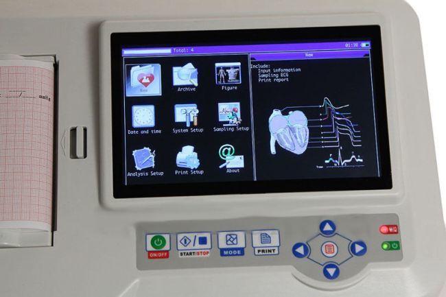 Yorumlu 6 Kanallı EKG Cihazı